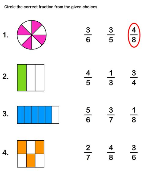 learn fraction worksheet 5