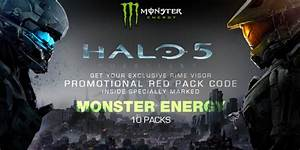 Halo Monster Energy Partnership Continues  Skipping Mountain Dew Again