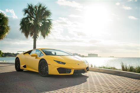yellow lamborghini lamborghini huracan coupe yellow miami exotics exotic