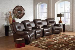 Best home furnishings brinley 2 seven piece reclining home for Best furniture for home theater