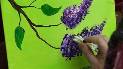 Acrylic Painting Easy Lilacs Flower Simple Beginners