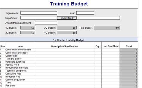 Training Budget Template Pdf by Training Budget Template Training Budget Template Excel