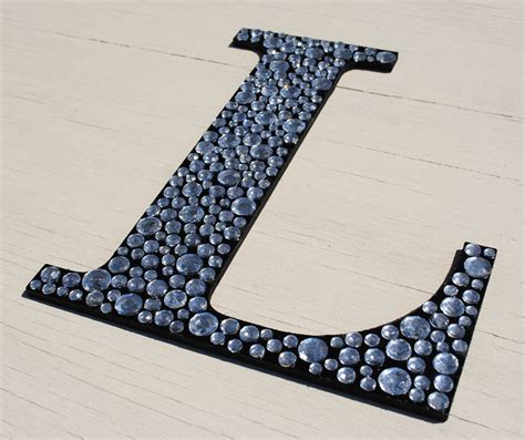 Decorating with letters has become a trend lately and more and more people are showing interest in this matter. Sparkle Black Bling Wall Letters.   Letter wall decor, Letter wall, Wall decor