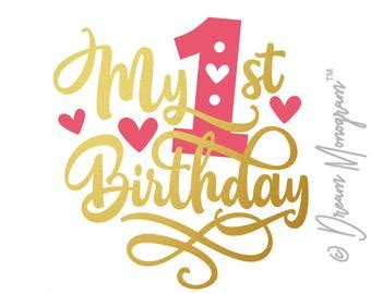 Thanks for all the cute templates! My first birthday | Etsy