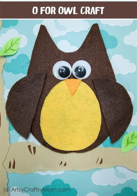 owl craft  printable template owl crafts