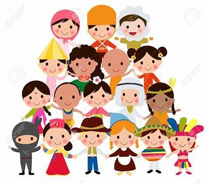 Clipart Mondo Enfants Monde Different Culture Diversity