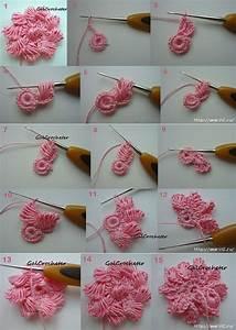 DIY Basic Crochet 3D Spiral with 8 Petal Flower Trims