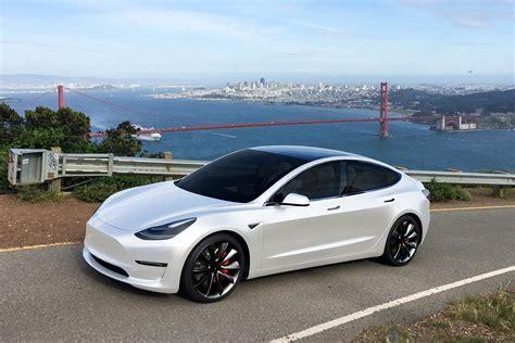 View White On White Tesla 3 Pictures