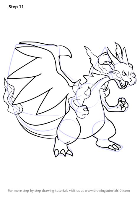 learn   draw mega charizard   pokemon pokemon step  step drawing tutorials