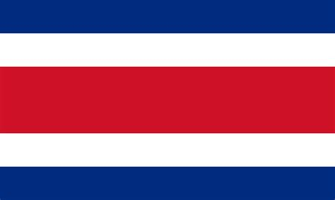 Costa Rica Flag Free Coloring Pages