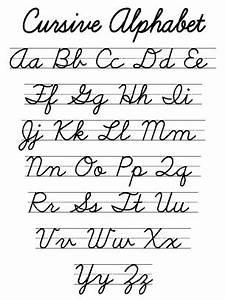 Cursive Alphabet Worksheet