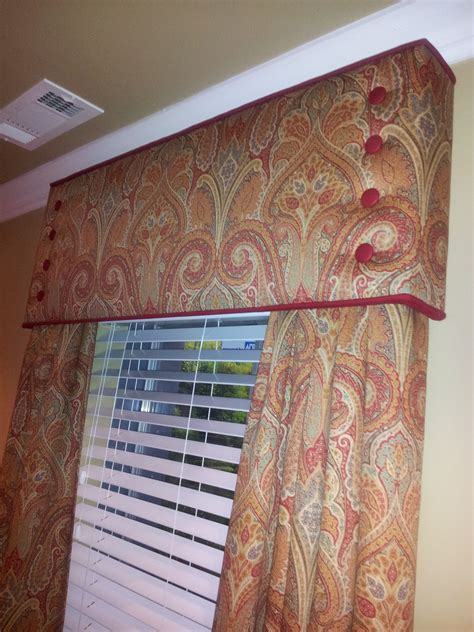 cornice board window treatment  side panels tailored