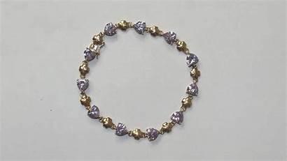 Clover Ct Purple Glass Bracelet Pattern Sallyantiques