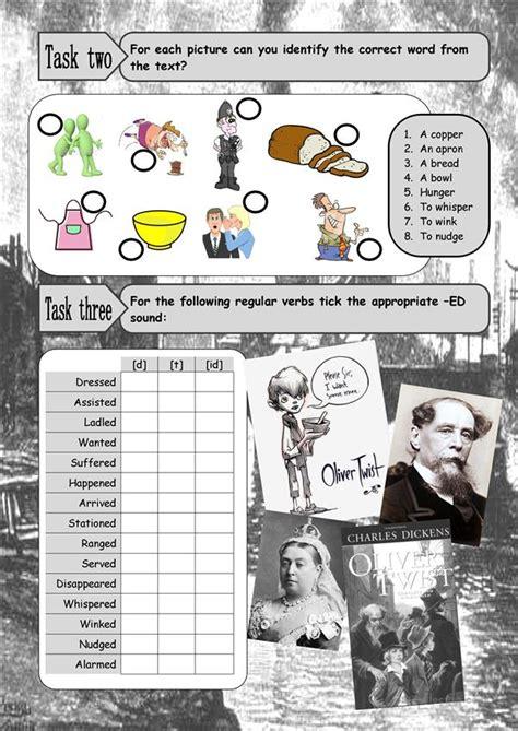 oliver twist worksheet  esl printable worksheets