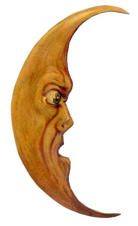 vintage halloween clip art grouchy moon man