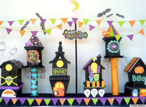 halloween decorations   hot  pinterest  adorable haunted village huffpost
