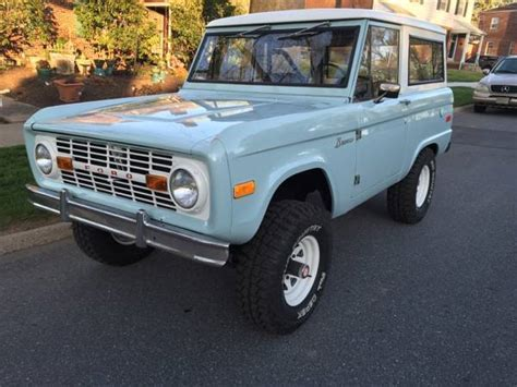 blue bronco car seller of classic cars 1970 ford bronco blue black