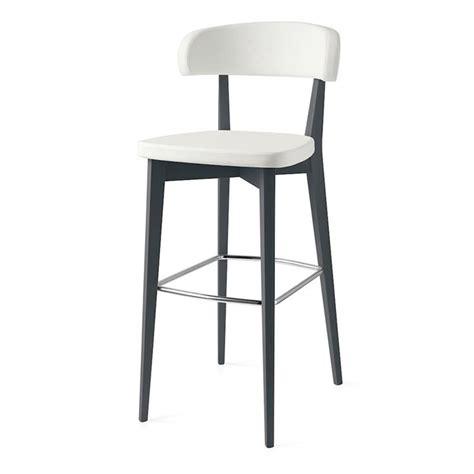 tabouret de bar confortable blanc pieds gris sur cdc design