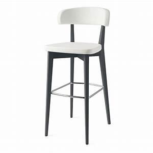 Tabouret De Bar Cuir : tabouret de bar confortable blanc pieds gris sur cdc design ~ Teatrodelosmanantiales.com Idées de Décoration