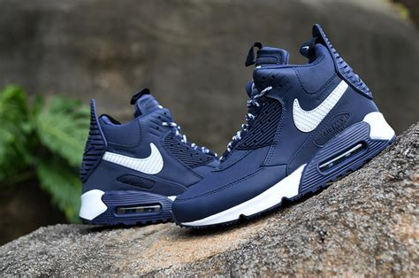 2015 nike air max 90 high tops shoes for navy