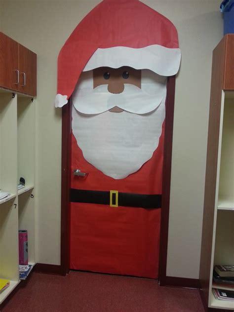 diy santa claus classroom door santa classroom door decoration school ideas