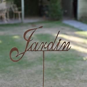 Decoration Jardin Metal : inscription jardin d co de jardin en m tal pancarte et ~ Teatrodelosmanantiales.com Idées de Décoration