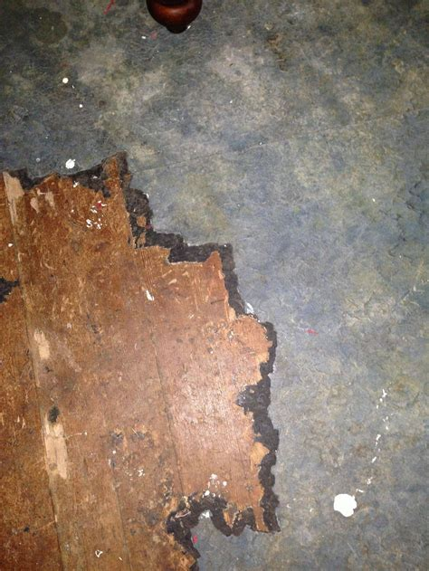 """subfloor   What is this old 1/16"""" thick floor covering"""