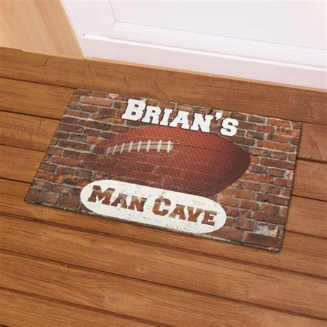 Cave Doormat by Football Cave Doormat With Name Giftsforyounow
