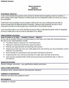 student trainee cv example icoverorguk With curriculum vitae examples for students