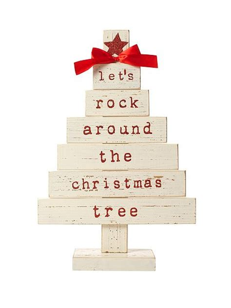 linea let s rock around the christmas tree sign house