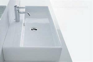 aufsatzwaschbecken aufsatz waschtisch waschbecken eckig 80 x 42 cm weiss neu ebay