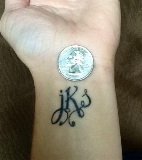 Wrist Tattoo  Initial Tattoo  Tattoos Pinterest