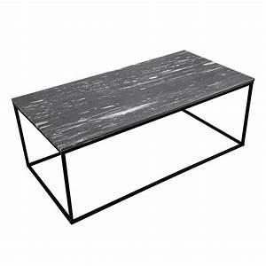 Table Marbre Rectangulaire : table basse rectangulaire dagmar marbre noire achetez les tables basses rectangulaires dagmar ~ Teatrodelosmanantiales.com Idées de Décoration