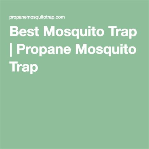 25 best ideas about propane mosquito trap on