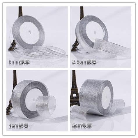2018 Brand Silver Ribbon Rolls For Diy Gift Packing