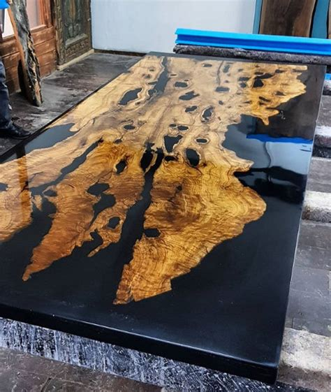 olive epoxy resin table  olive epoxy consollive edge