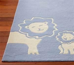 Baby lion rug potterybarn boy nursery kid stuff for Baby boy room rugs