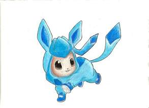 Shiny Glaceon and Eevee