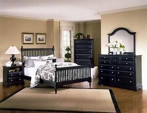 Bedroom With Black Furniture. Elegant Black Bedroom ...