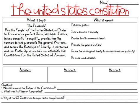 All Worksheets » Us Constitution Worksheets  Printable Worksheets Guide For Children And Parents