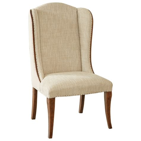 Hamilton Home Sentinel Pecan Upholstered Host Chair With