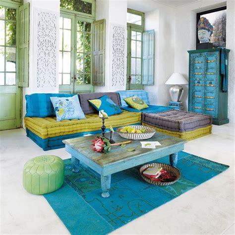 banquette canapé d 39 angle 6 places modulable bleu vert