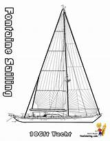 Coloring Sailing Boat Ships Ship Boats Yescoloring Yacht Superb sketch template