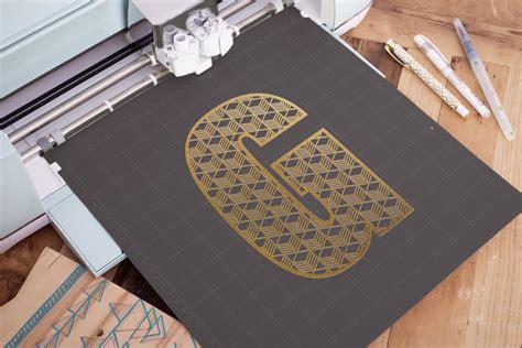 split monogram letter  svg geometric letter  svg  cut files design bundles