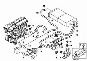 Original Parts For E39 528i M52 Touring    Heater And Air Conditioning   Hoses F Pump And Valve