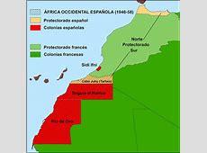 El Mapa del África Occidental Española de 1949 a escala 1