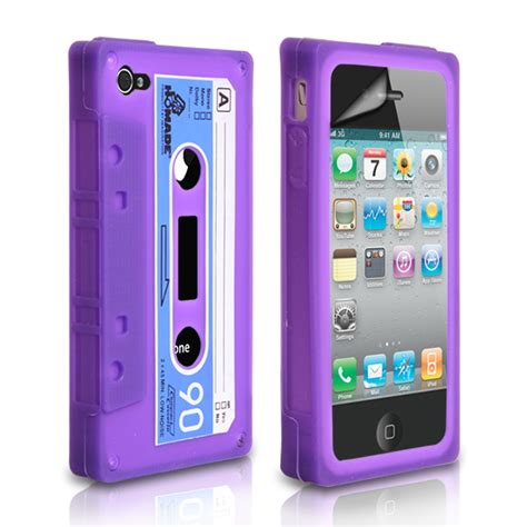 Iphone 4 Cassette by Yousave Accessories Iphone 4 And 4s Cassette Purple