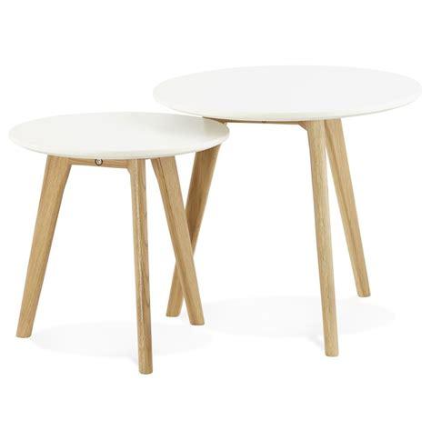table de cuisine ronde table gigogne ronde gaby au design scandinave table d 39 appoint