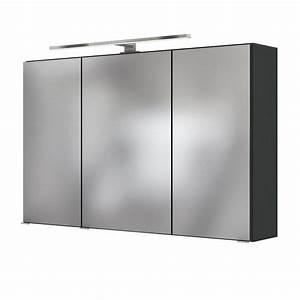 Spiegelschrank Bad 100 Cm Breit : bad spiegelschrank baabe 3 t rig mit beleuchtung 100 cm breit grau matt bad spiegelschr nke ~ Eleganceandgraceweddings.com Haus und Dekorationen