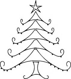 christmas tree line drawing clipart best clipart best